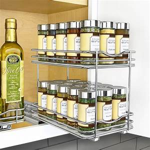 Lynk, Professional, U00ae, Slide, Out, Double, Spice, Rack, Upper, Cabinet, Organizer, 6-inch, Wide
