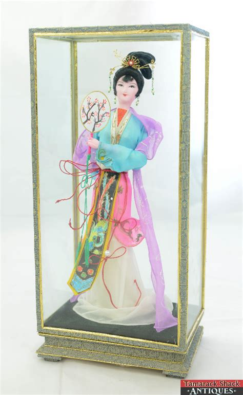 japanese glass doll display case images