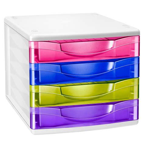 module de classement bureau cep bloc de classement 4 tiroirs multicolore