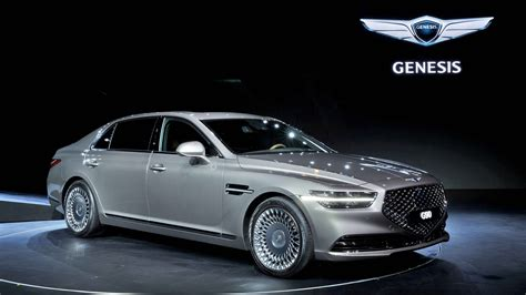 facelifted  genesis  luxury flagship sedan unveiled