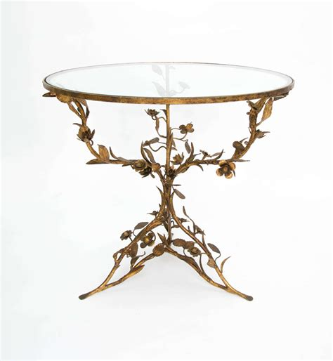 decorative side tables decorative metal and glass side table at 1stdibs 3129