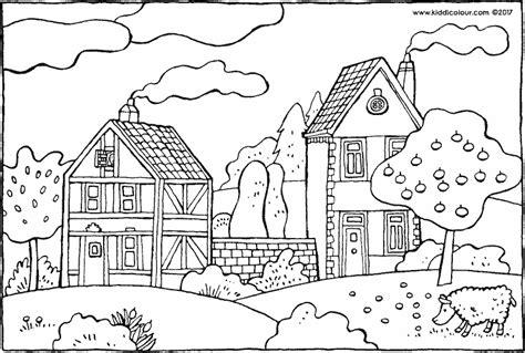 Kleurplaten Appelboom by Huizen Kleurprenten Pagina 4 4 Kiddicolour