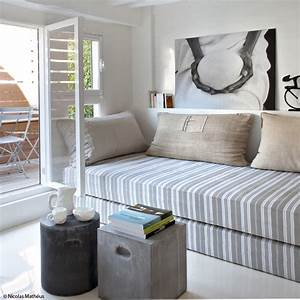 petites surfaces grandes idees elle decoration With canapé lit salon