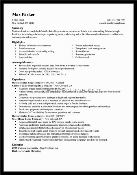 Sales Resume Sle Objective by Objectives For Sales Representative Resume