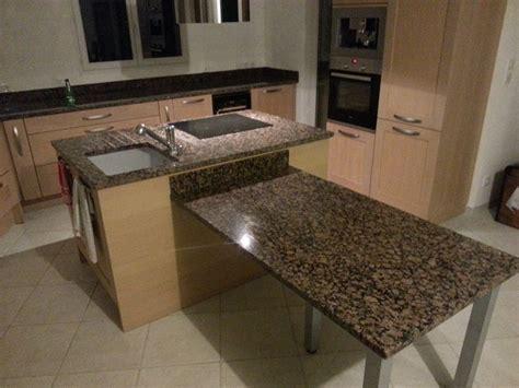 plan de cuisine granit plan de travail avec table de cuisine en granit valence