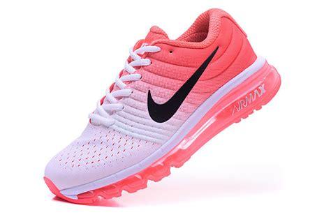 womens nike air max  trainers orange white running