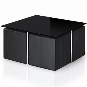 Table Basse Avec Pouf Pas Cher : table basse avec 6 pouf pas cher le bois chez vous ~ Teatrodelosmanantiales.com Idées de Décoration