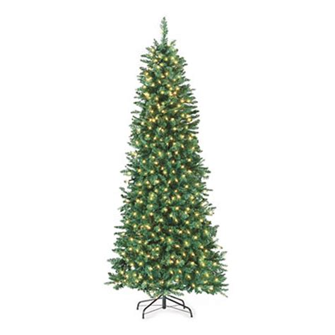 7 pre lit artificial christmas tree slim with clear lights big lots