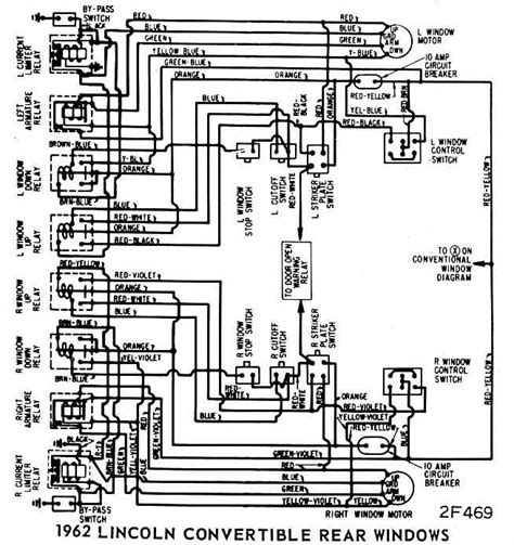 1959 Lincoln Wiring Diagram by Lincoln Continental Convertible 1962 Rear Windows Wiring