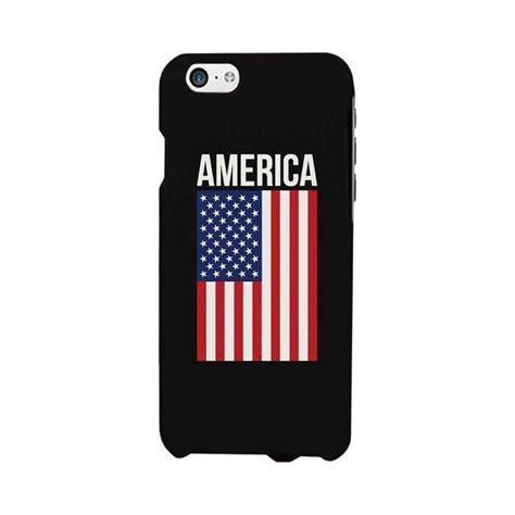 Amazoncom American Flag Black Phone Case For Iphone 46p