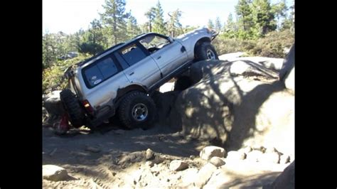 toyota land cruiser fzj rubicon trail rock crawler