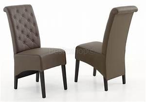 chaises de salle a manger design capitonnee en pu couleur With salle À manger contemporaineavec chaise en couleur pas cher