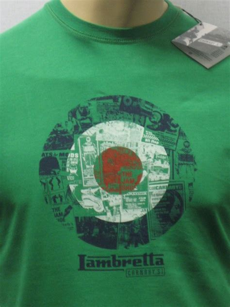 lambretta photo target green  shirt urban dealer