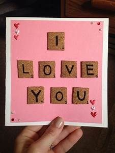 Valentine's Day card 2016. Scrabble letters | My crafts ...