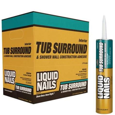 Adhesive For Tub Surround by Liquid Nails 10 Oz Voc Tub Surround And Shower Walls