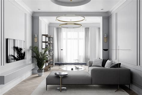 Using Gold Accents In Interior Design by Grey Based Neoclassical Interior Design With Muted