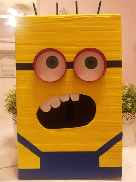 Halloween Classroom Door Decorating Contest by Despicable Me Minion Valentines Day Box 5 Steps With