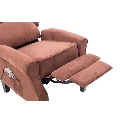 homcom heated vibrating suede living room recliner
