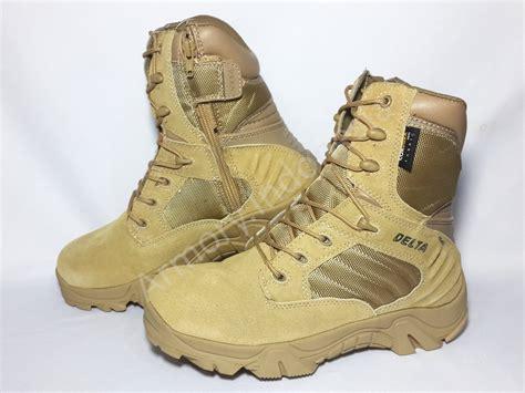jual beli sepatu boot delta 8 quot warna gurun baru
