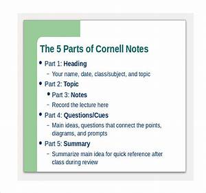 6 cornell notes powerpoints free sample example With cornell notes powerpoint template