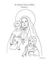 year 1 st frances cabrini coloring page catholic 859 | 08ded58dd367a1960efd4efa481986ec