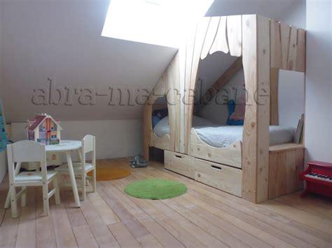 cabane pour chambre lit bois naturel with cabane pour chambre enfant