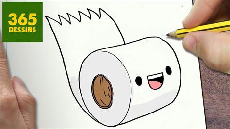 Comment Dessiner Papier HygiÉnique Kawaii Étape Par Étape