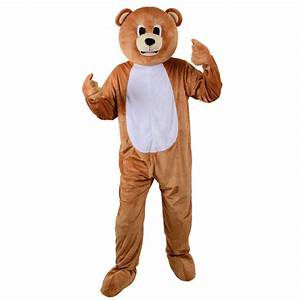 Teddy Bear Animal Mascot Fancy Dress Halloween Costume ...