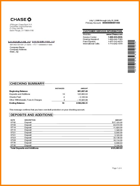 Free Bank Statement Template by 8 Bank Statement Template Free Statement 2017