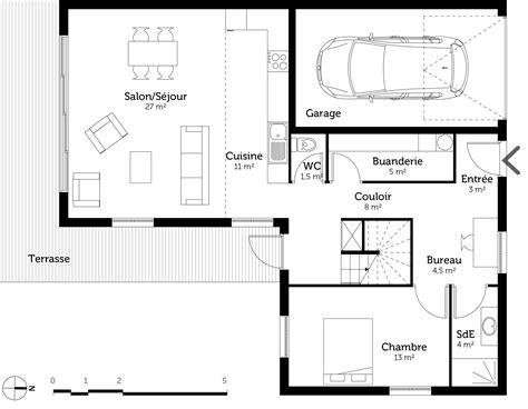 Toiture Maison En L by Plan Maison 224 233 Tage Et 224 Toit Plat Ooreka