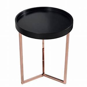 Tablett Tisch Schwarz : extravaganter couchtisch modul 40 cm matt schwarz kupfer ~ Whattoseeinmadrid.com Haus und Dekorationen