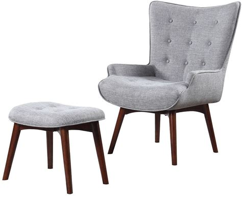 gray chair with ottoman gray accent chair with ottoman by scott living from