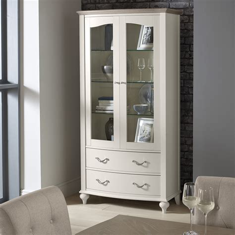montreux display cabinet soft grey upstairs downstairs