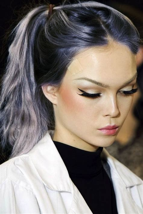 Grey Hair Grey And Dark Purple On Pinterest