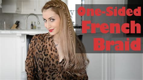 One-sided French Braid Hairstyle