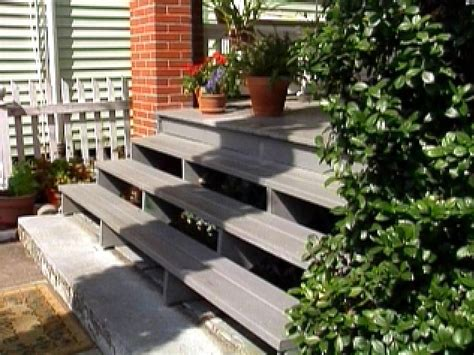 replace wooden porch steps hgtv