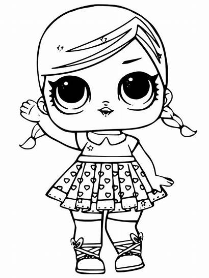 Lol Coloring Pages Dolls Printable Doll Colors