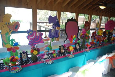 Alice In Wonderland Party Supplies Drink, Meal And Decor