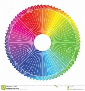 Color Spectrum Abstract Wheel  Colorful Diagram Ba Royalty