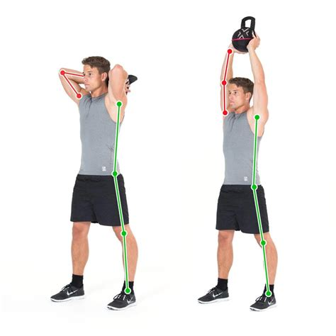 overhead exercise double kettlebell triceps tricep arms trizeps ex training
