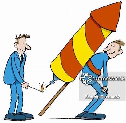 Cartoon Cartoons Funny Rocket Launch Fuse Firework
