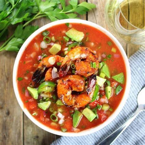 recette cuisine gaspacho espagnol 10 recettes crevettes chaudes ou froides servies en