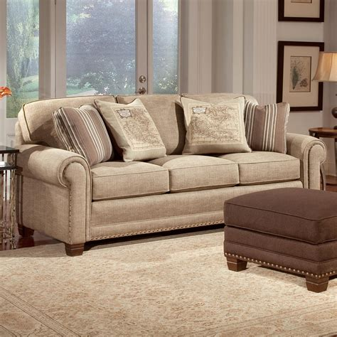 traditional sectional sofas smith brothers 393 traditional stationary sofa with