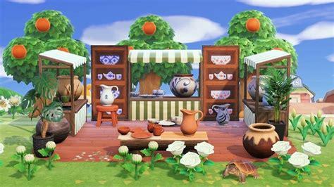 pottery acnh area shelf china crossing animal horizon designs reblog horizons acnhdesign tournesol sam stand