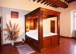Lit A Baldaquin En Bois : lit baldaquin meubles hugon meubles normands bernay ~ Teatrodelosmanantiales.com Idées de Décoration