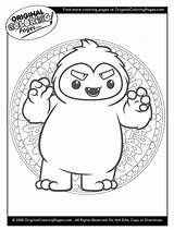 Coloring Yeti Popular sketch template