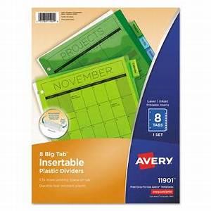avery avery insertable big tab plastic dividers 8 tab With avery inserts for dividers 8 tab