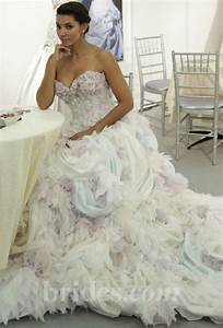 multi colored wedding gowns with tons of personality With multi color wedding dress