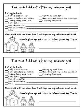 Behavior Modification Books For Parents by Behavior Note Classroom Management Parent Communication