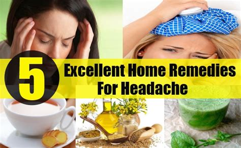 5 Excellent Home Remedies For Headache  Diy Health Remedy